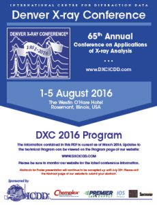 Denver X-ray Conference 2016